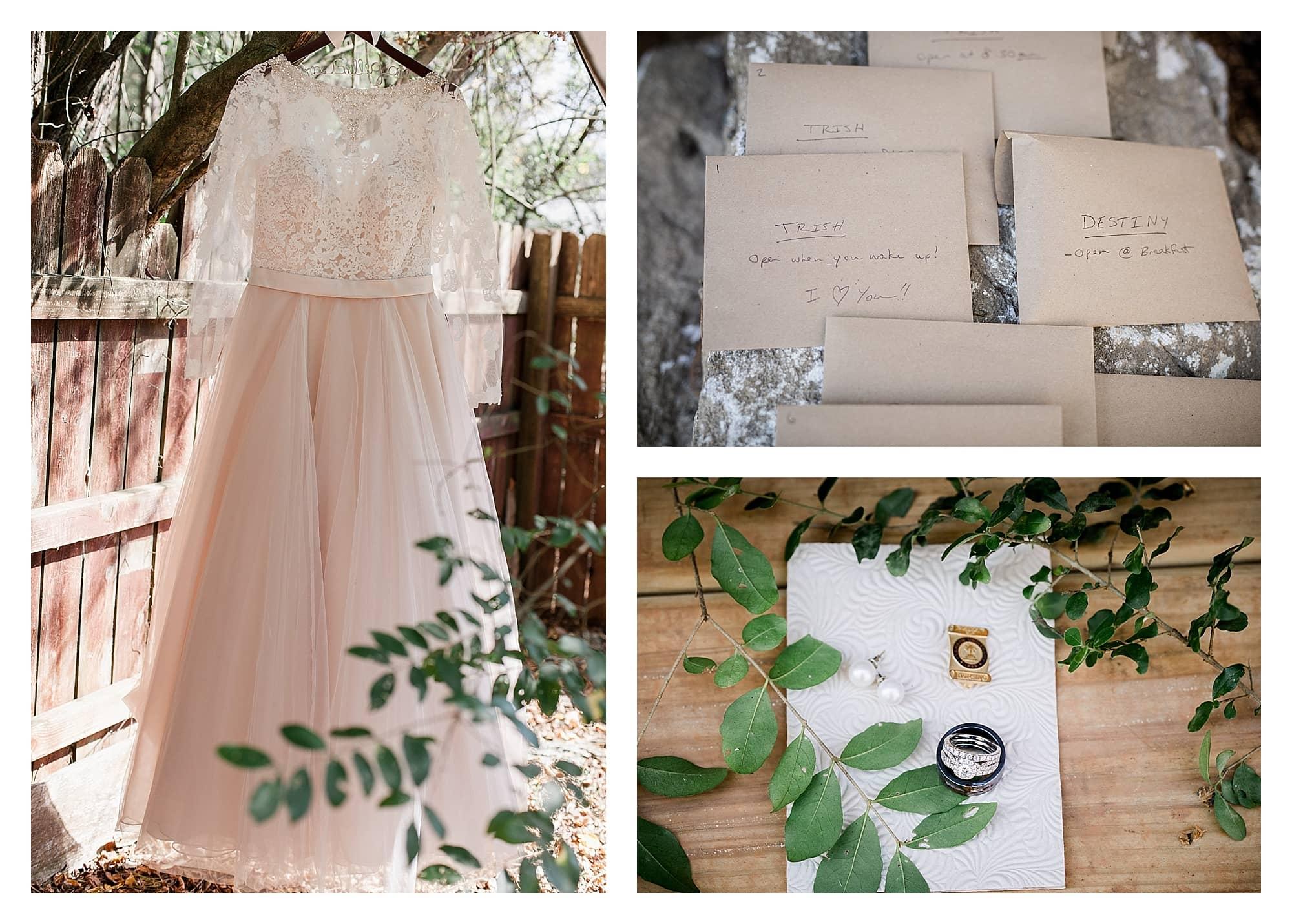 Details of wedding Asheville NC