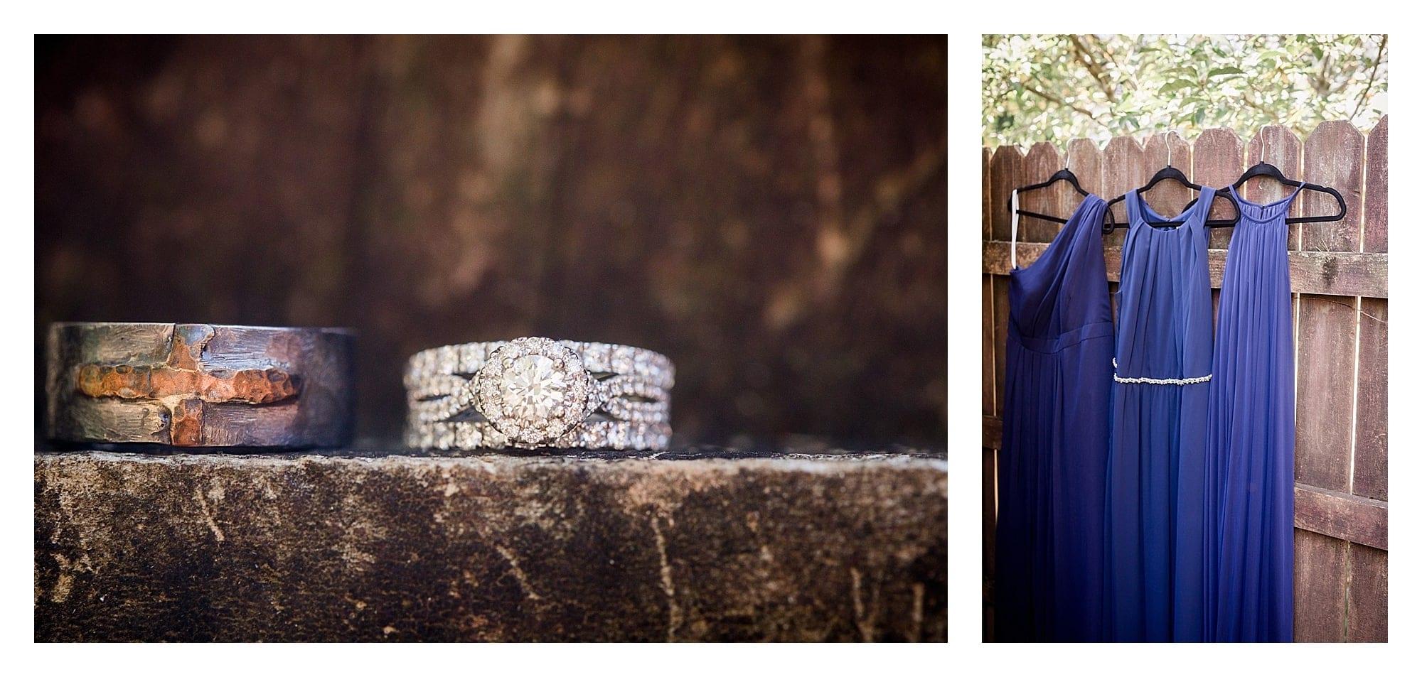 Ring detail photographs at wedding