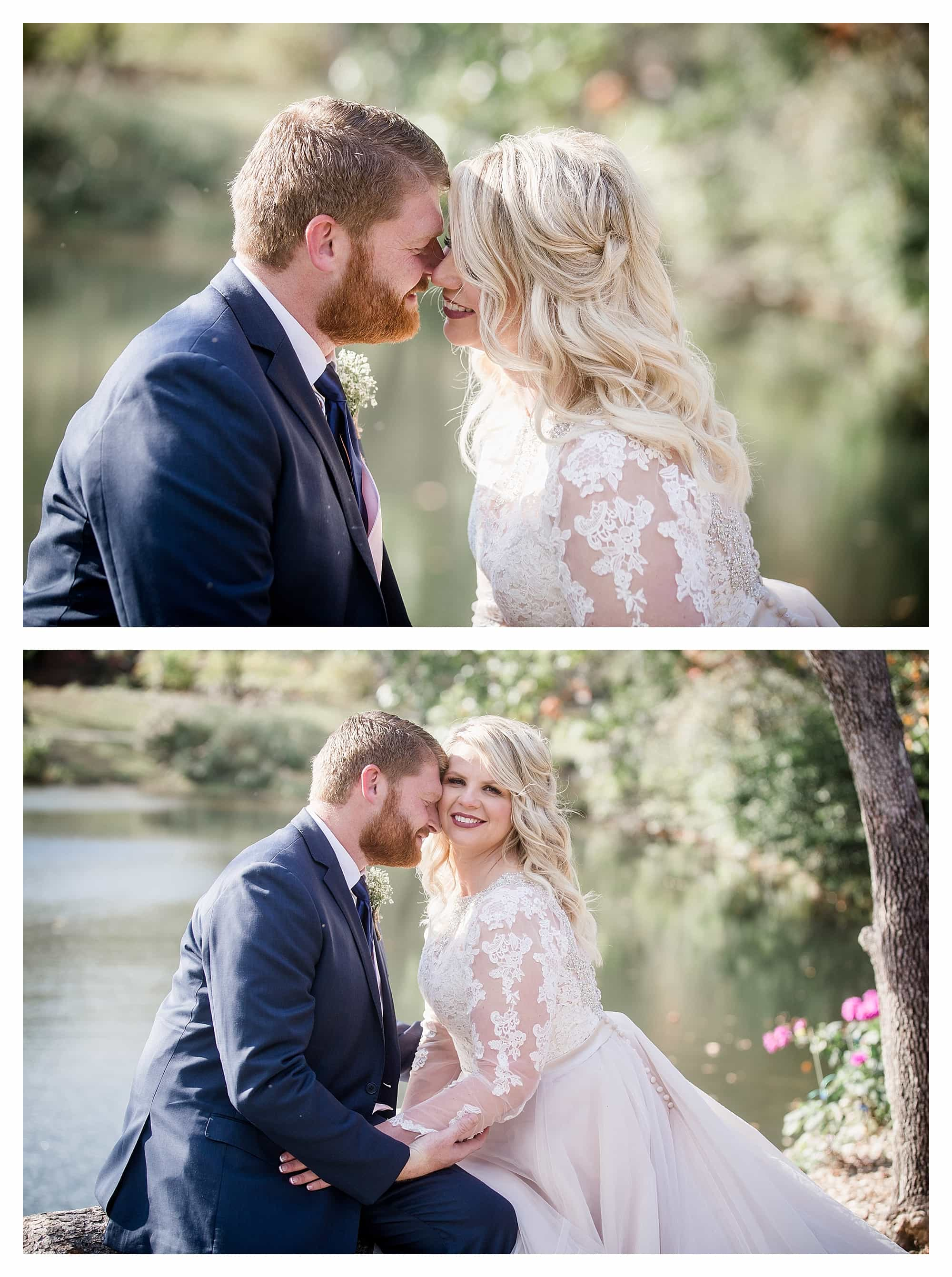 Bride and groom romantic pictures