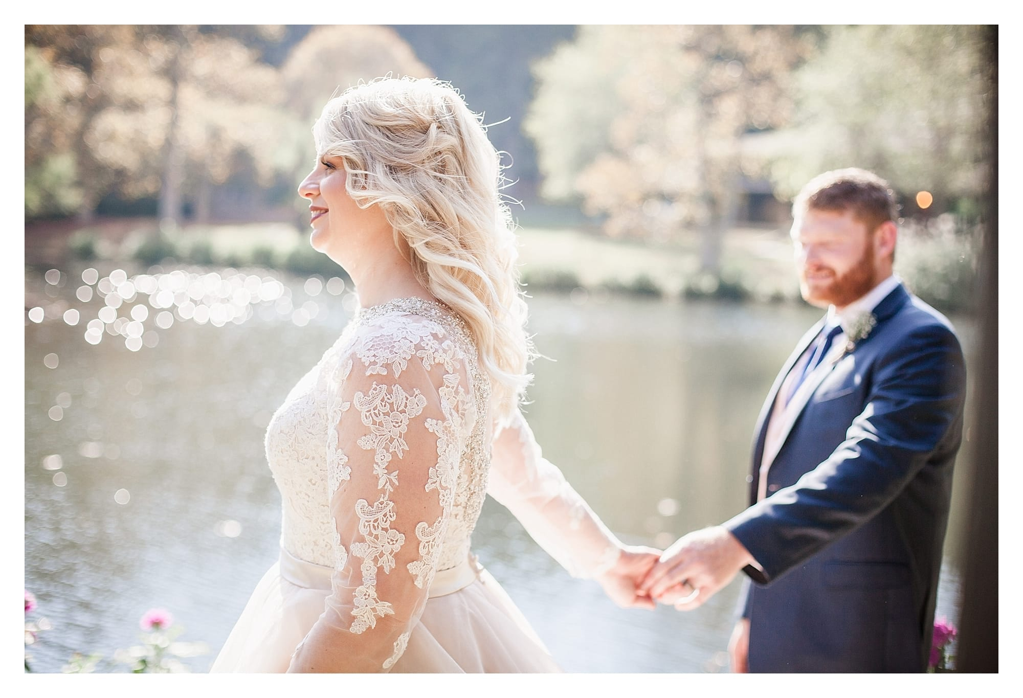 Gorgeous blush and ivory wedding gown