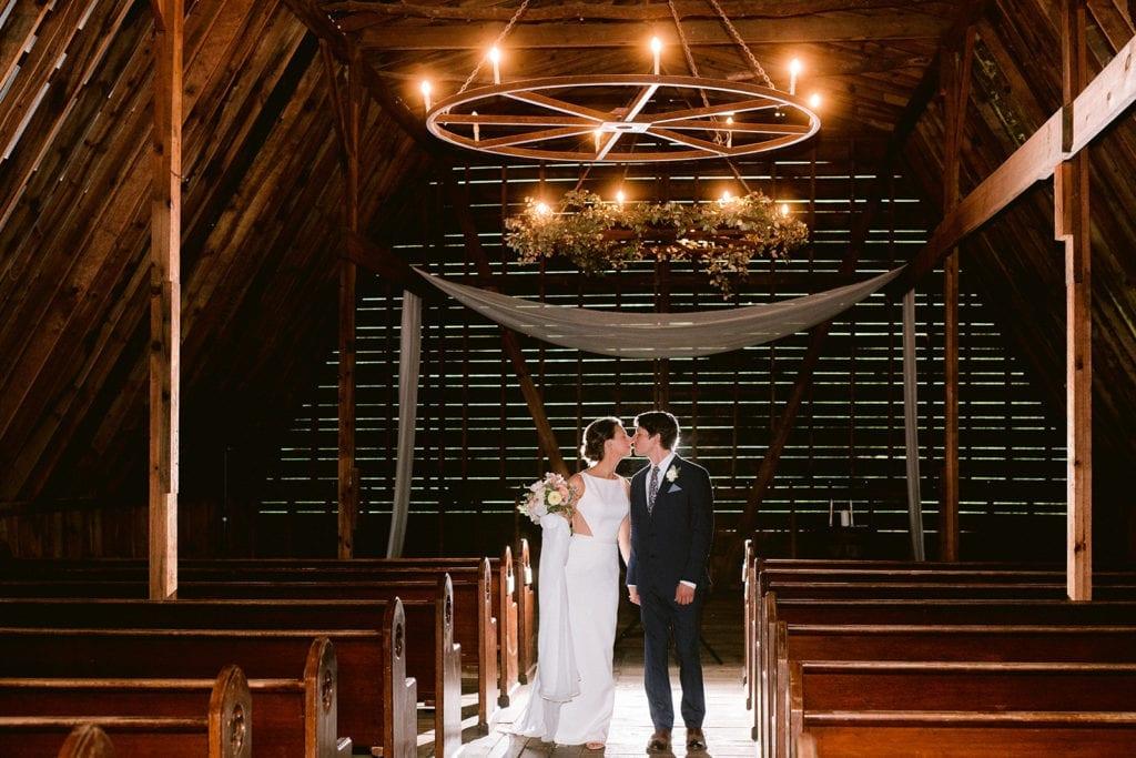 Honeysuckle Hill Wedding chapel, bride and groom