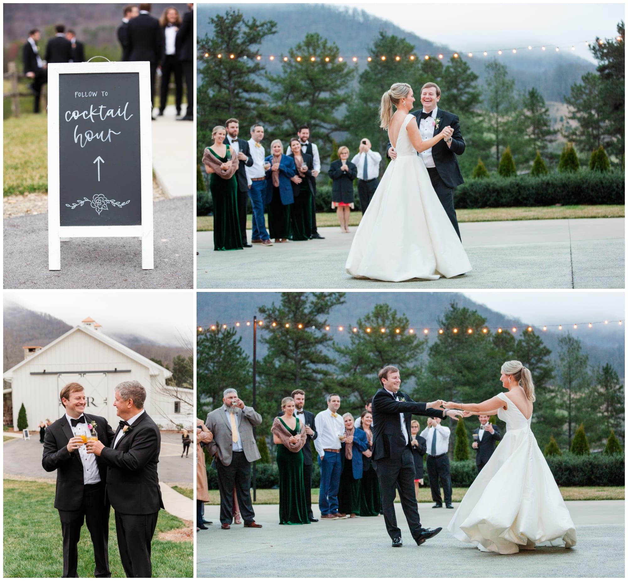 First dance at blue hour - Chestnut Ridge Wedding Venue