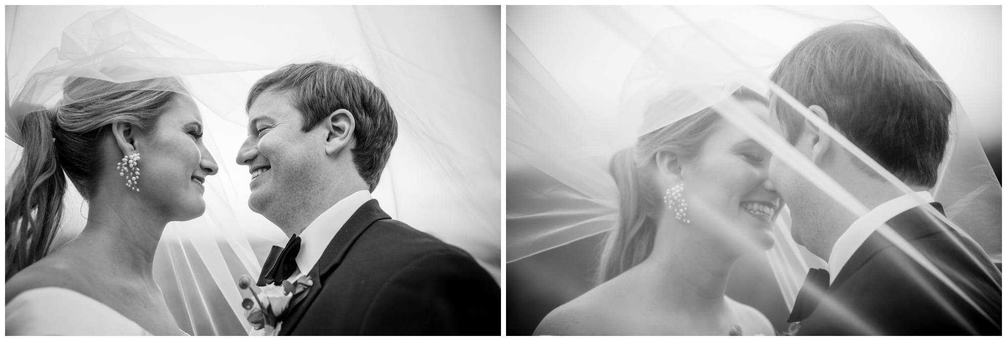 Veil photographs in black and white