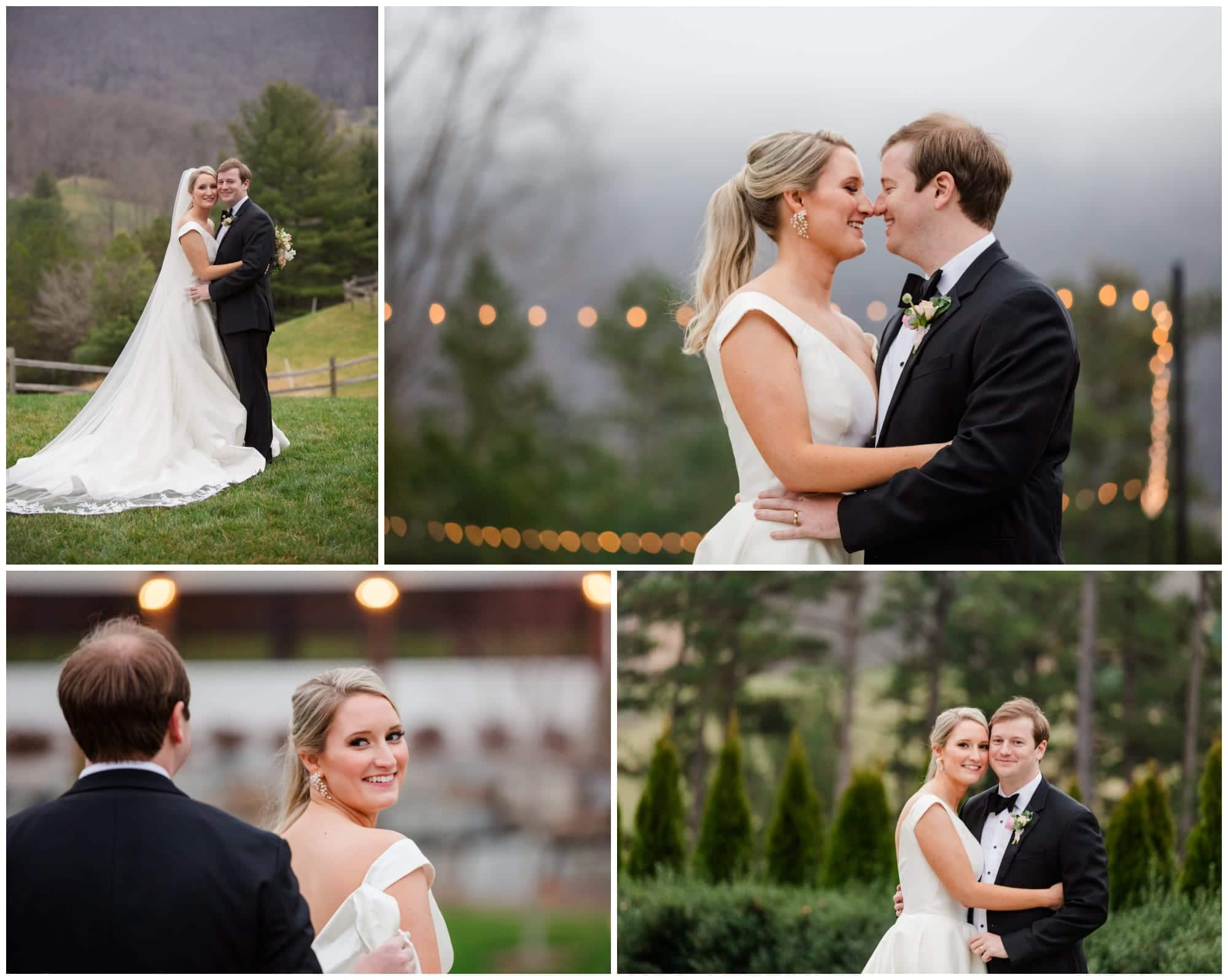 Bride and Groom photos with greenery in the background