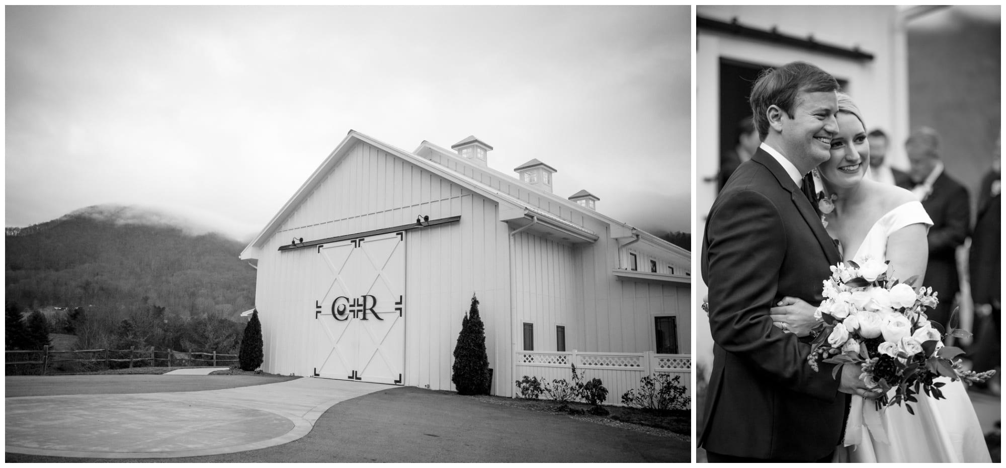 Black and white photos of chestnut ridge wedding